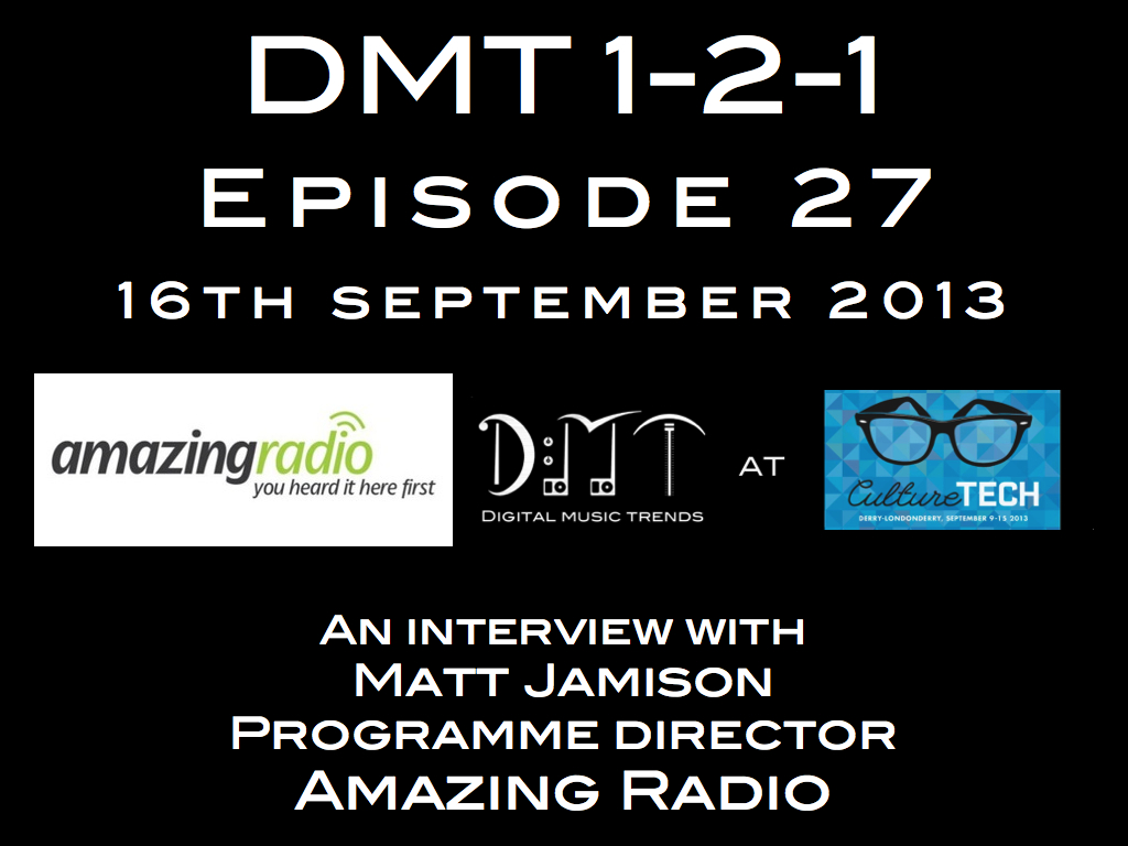 amazing radio on digital music trends dmt 1-2-1