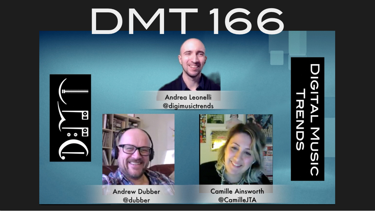 dmt 166, Andrew Dubber, Andrea Leonelli, Camille Ainsworth, Digital Music trends, DMT 166